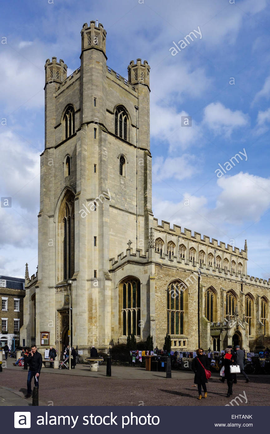Great St Mary's Church on Kings Parade, Cambridge - Stock Image