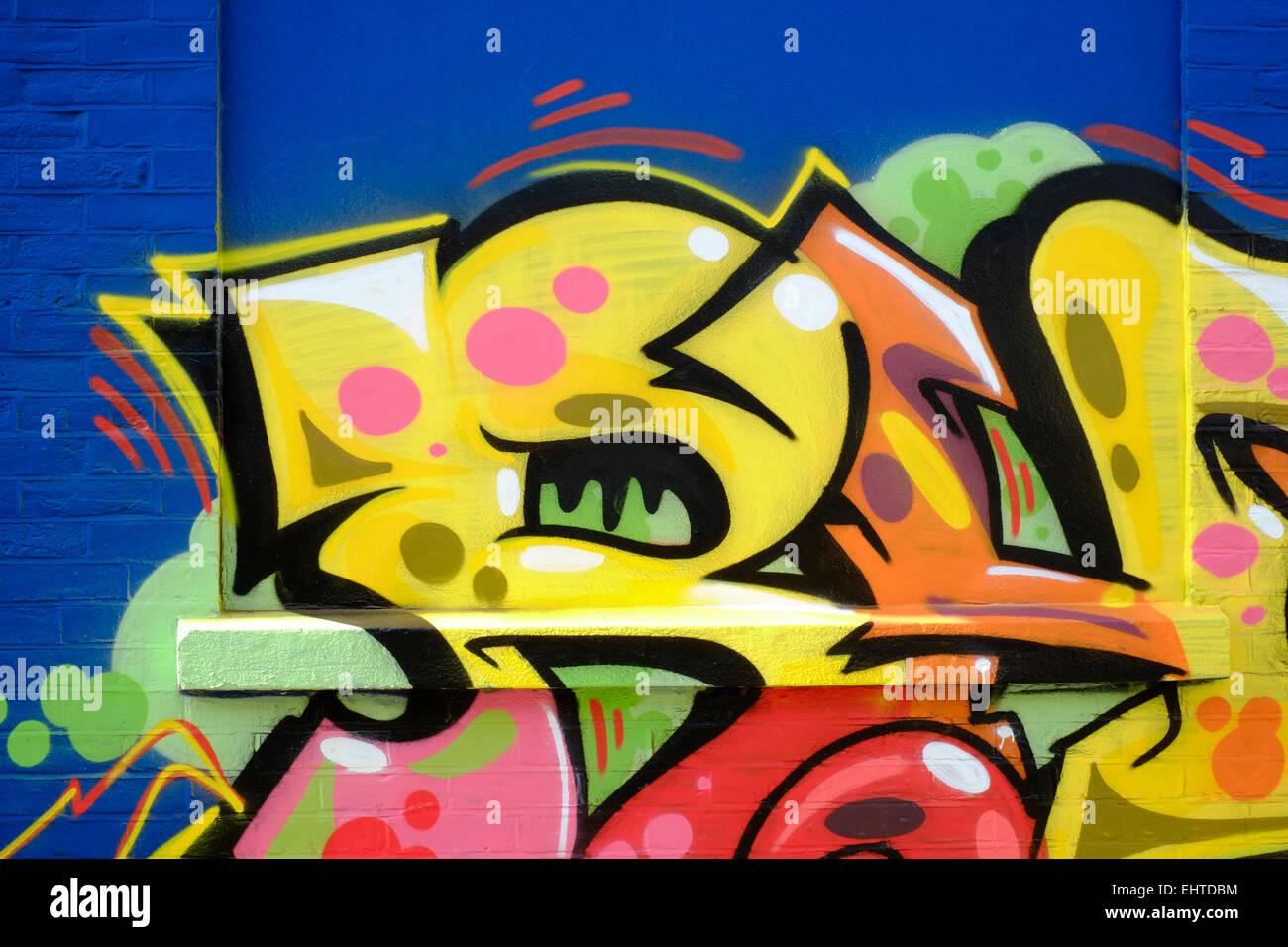 modern street art graffiti spray painted onto a wall Stock Photo ...
