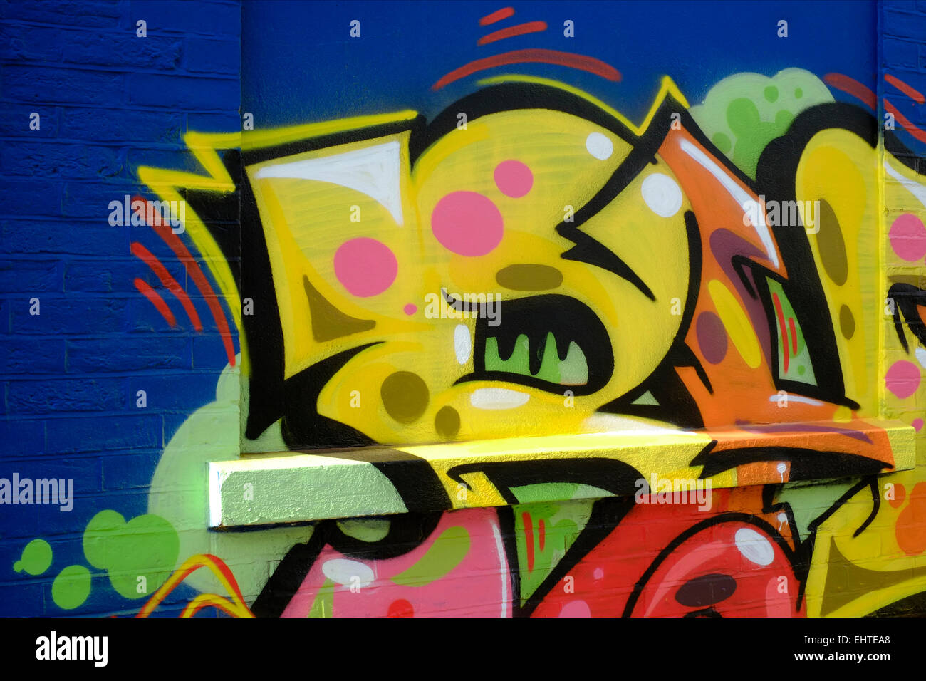 modern street art graffiti spray painted onto a wall Stock Photo ...
