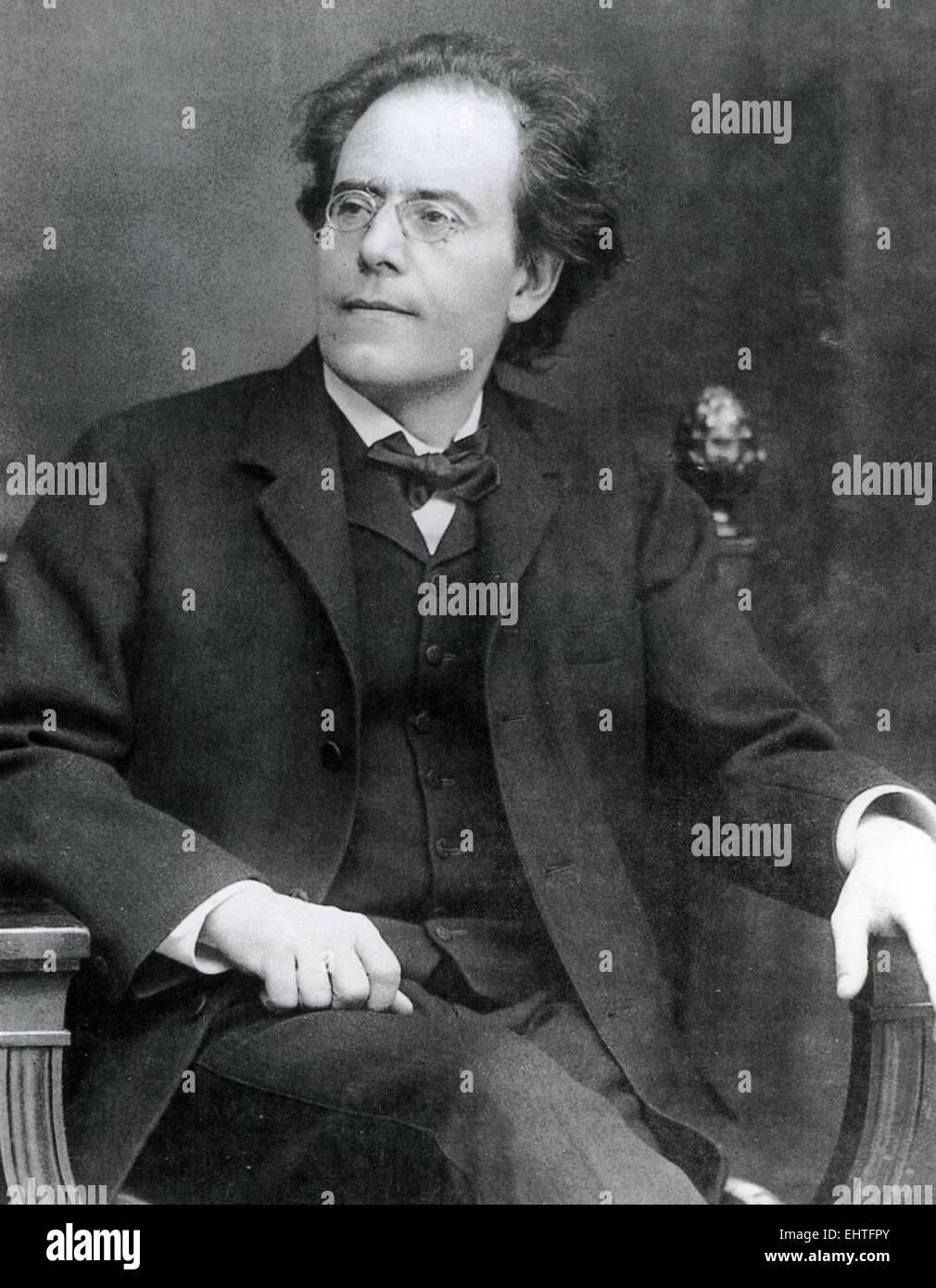 GUSTAV MAHLER (1860-1911) Bohemian composer about 1905 - Stock Image