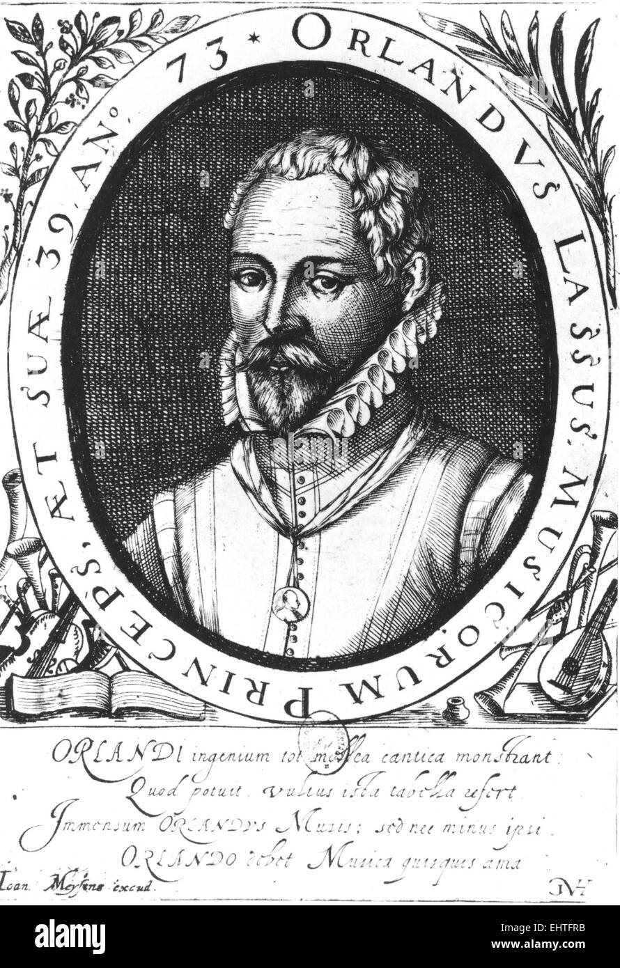 ROLAND DE LASSUS (c 1530-1594) Dutch composer - Stock Image