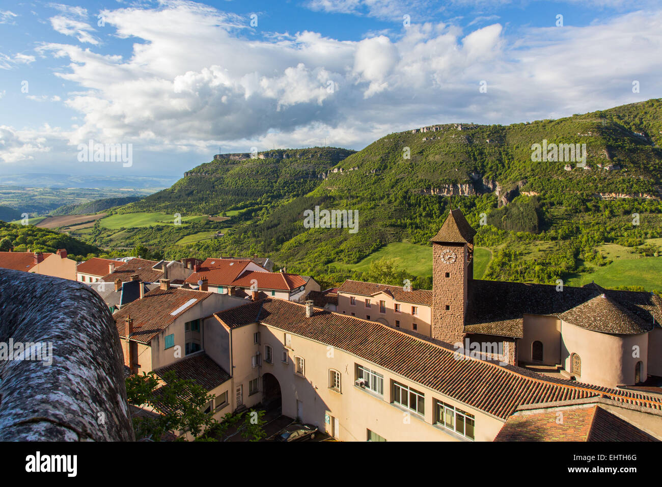 The Village Of Roquefort Sur Soulzon Stock Photos & The ...