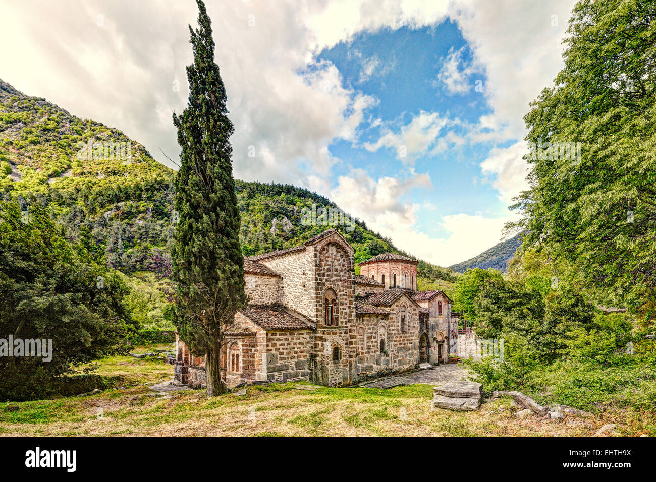 The Church of Porta Panagia at Pyli, Greece - Stock Image