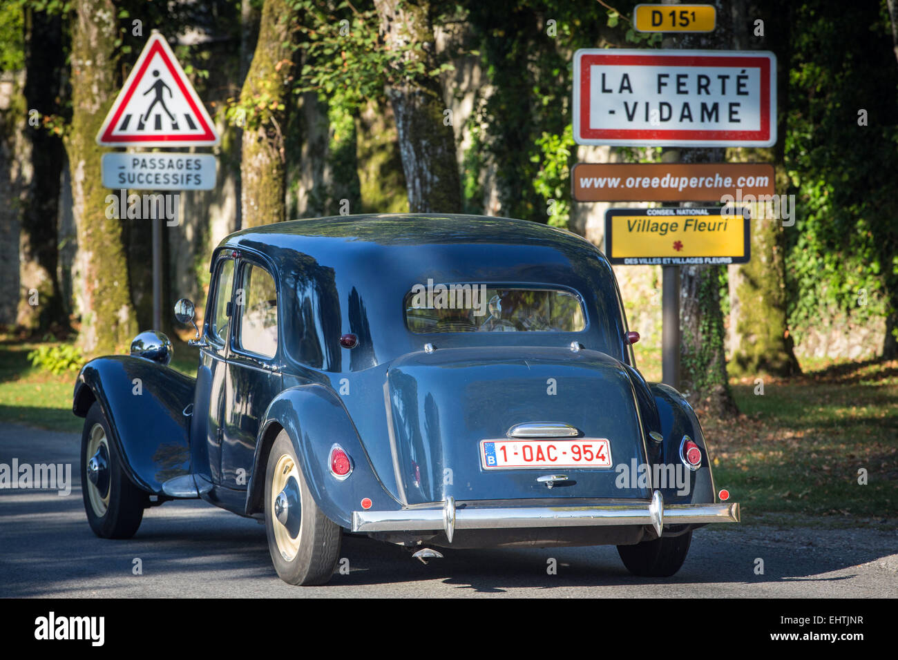 80 YEARS OF CITROEN'S FRONT-WHEEL DRIVE 'TRACTION AVANT', FRANCE - Stock Image
