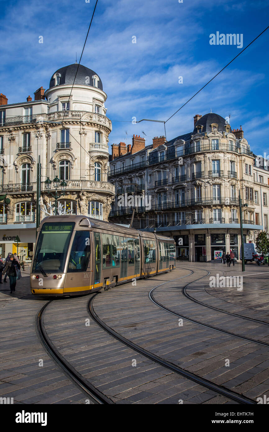ILLUSTRATION OF THE CITY OF ORLEANS, (45) LOIRET, CENTRE, FRANCE Stock Photo
