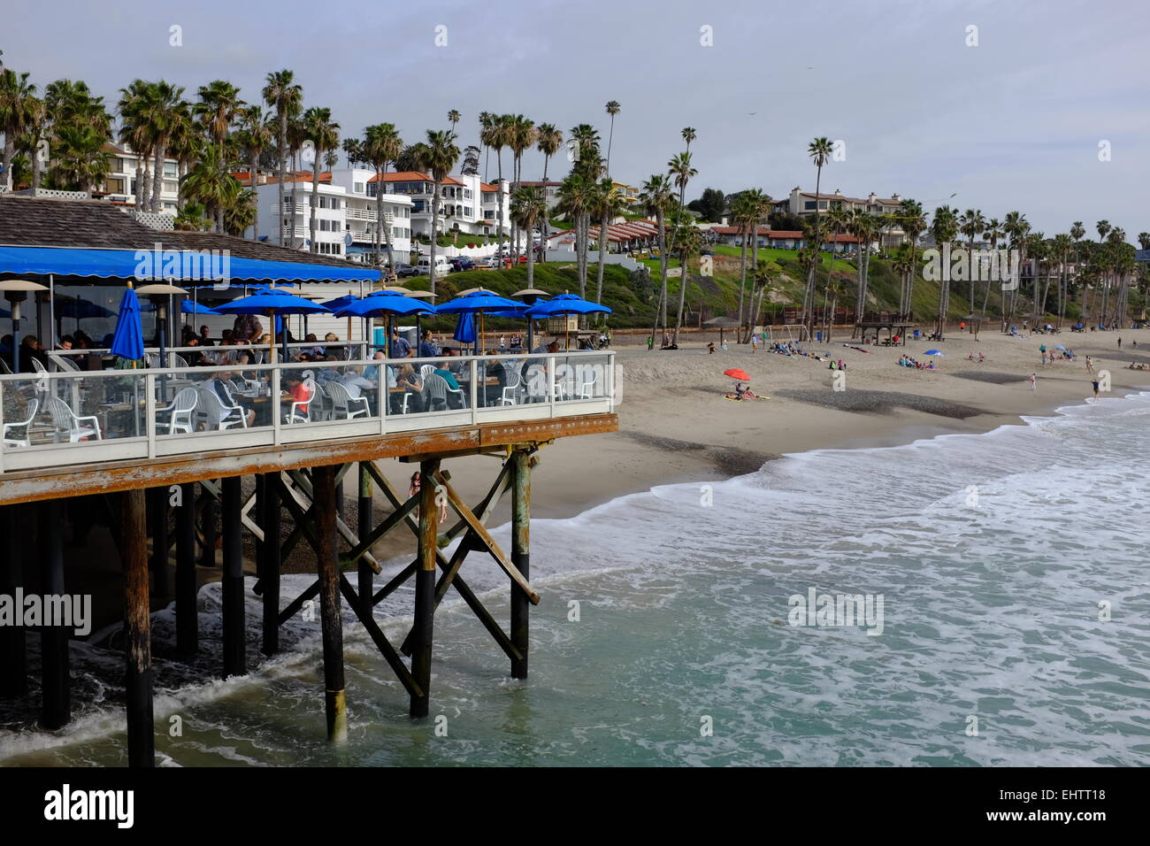 San Clemente Pier, San Clemente, CA, and surrounding area Stock Photo