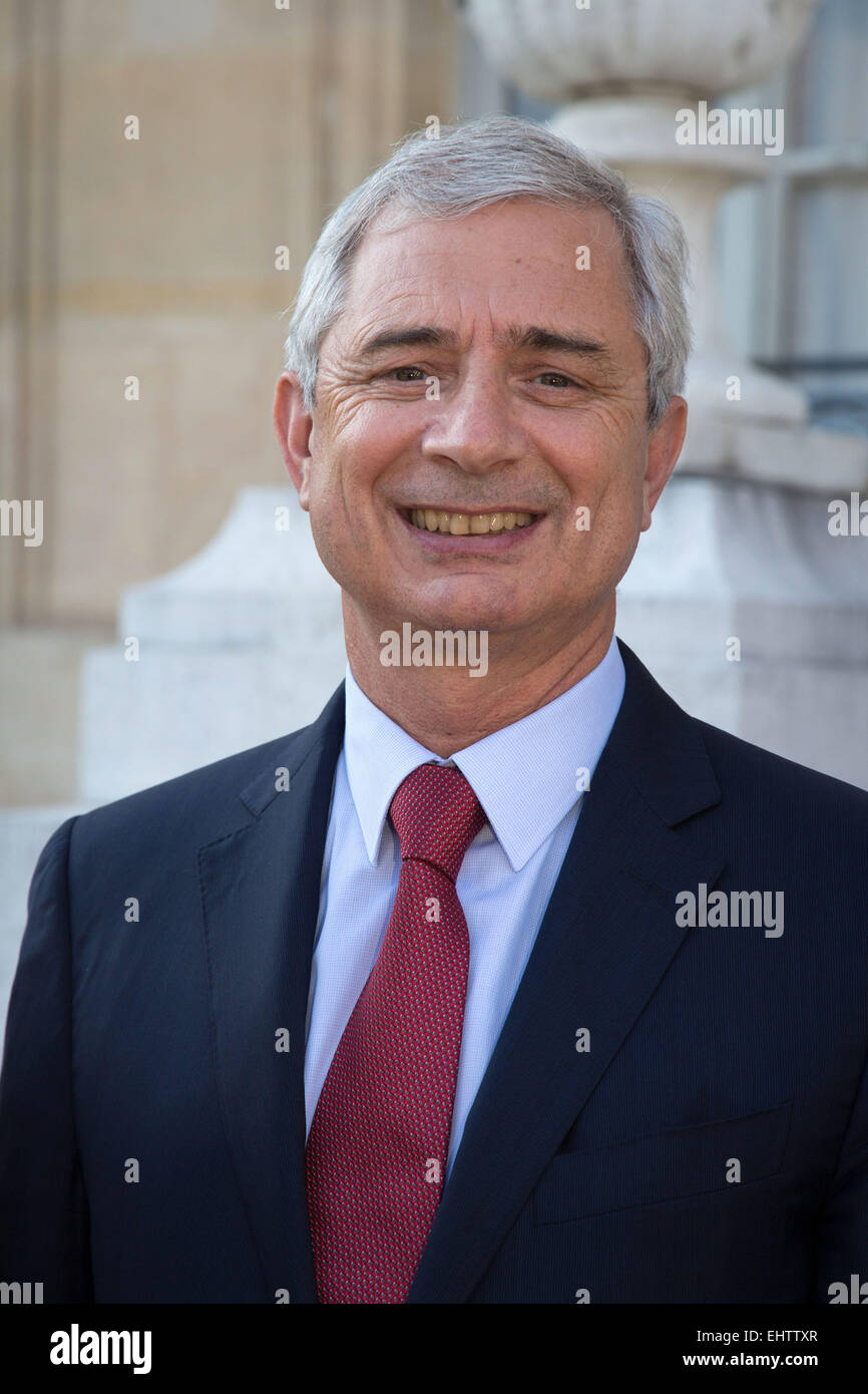 CLAUDE BARTOLONE, PRESIDENT OF THE NATIONAL ASSEMBLY, PARIS, FRANCE - Stock Image