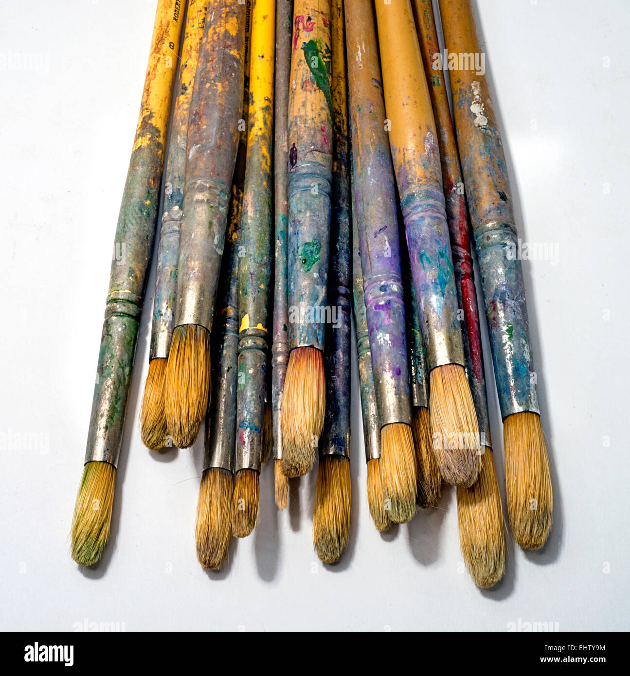 artist's paint brushes - Stock Image