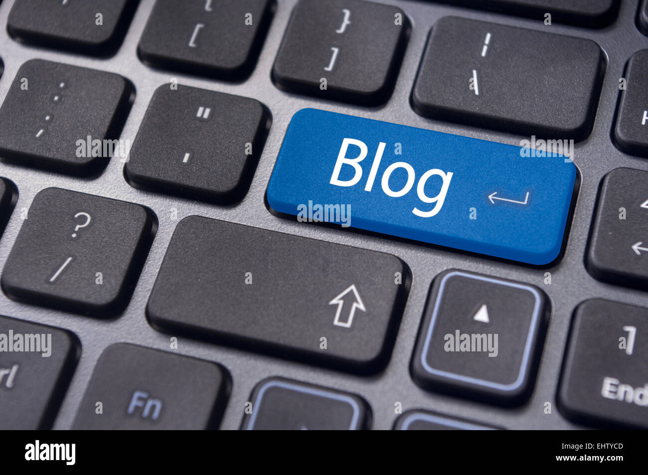 blog concepts, message on keyboard - Stock Image