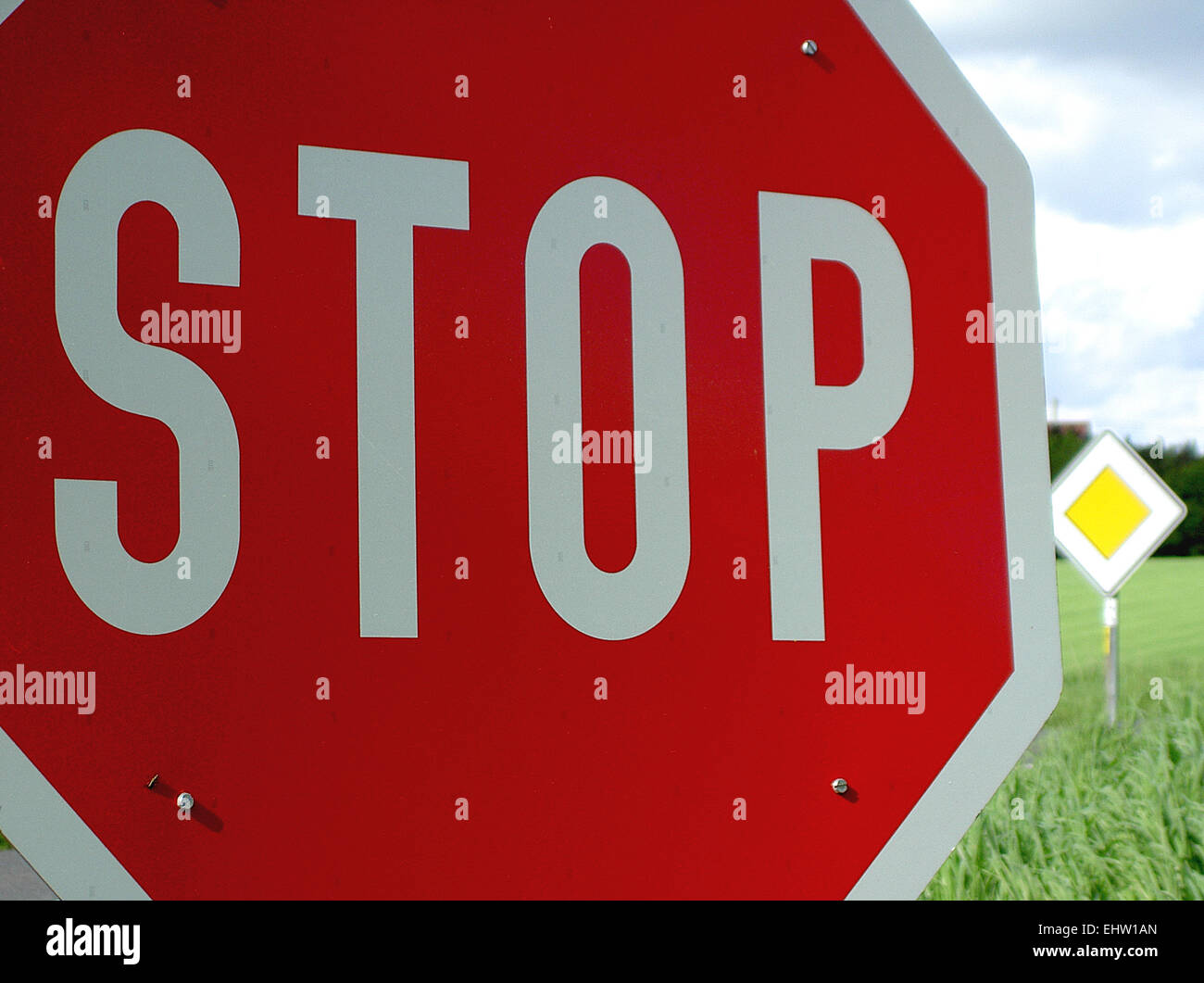 traffic road sign Stock Photo