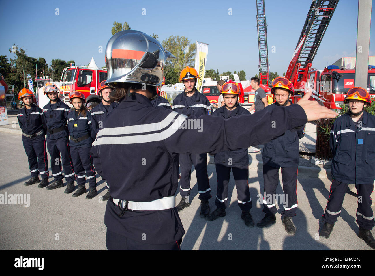 YOUNG FIREFIGHTER - Stock Image