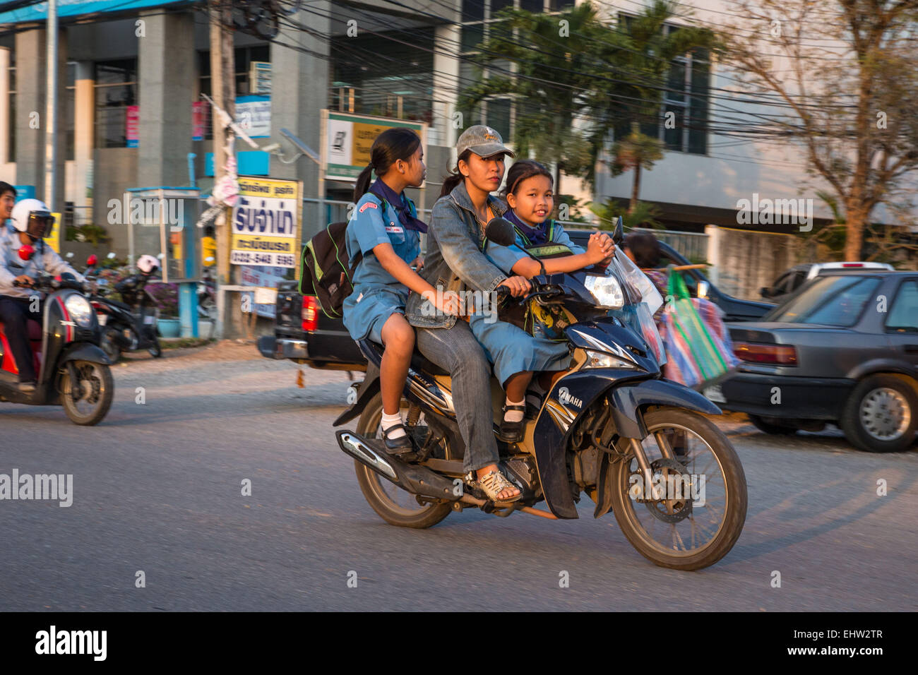 DAILY LIFE IN THAILAND, SOUTHEAST ASIA - Stock Image