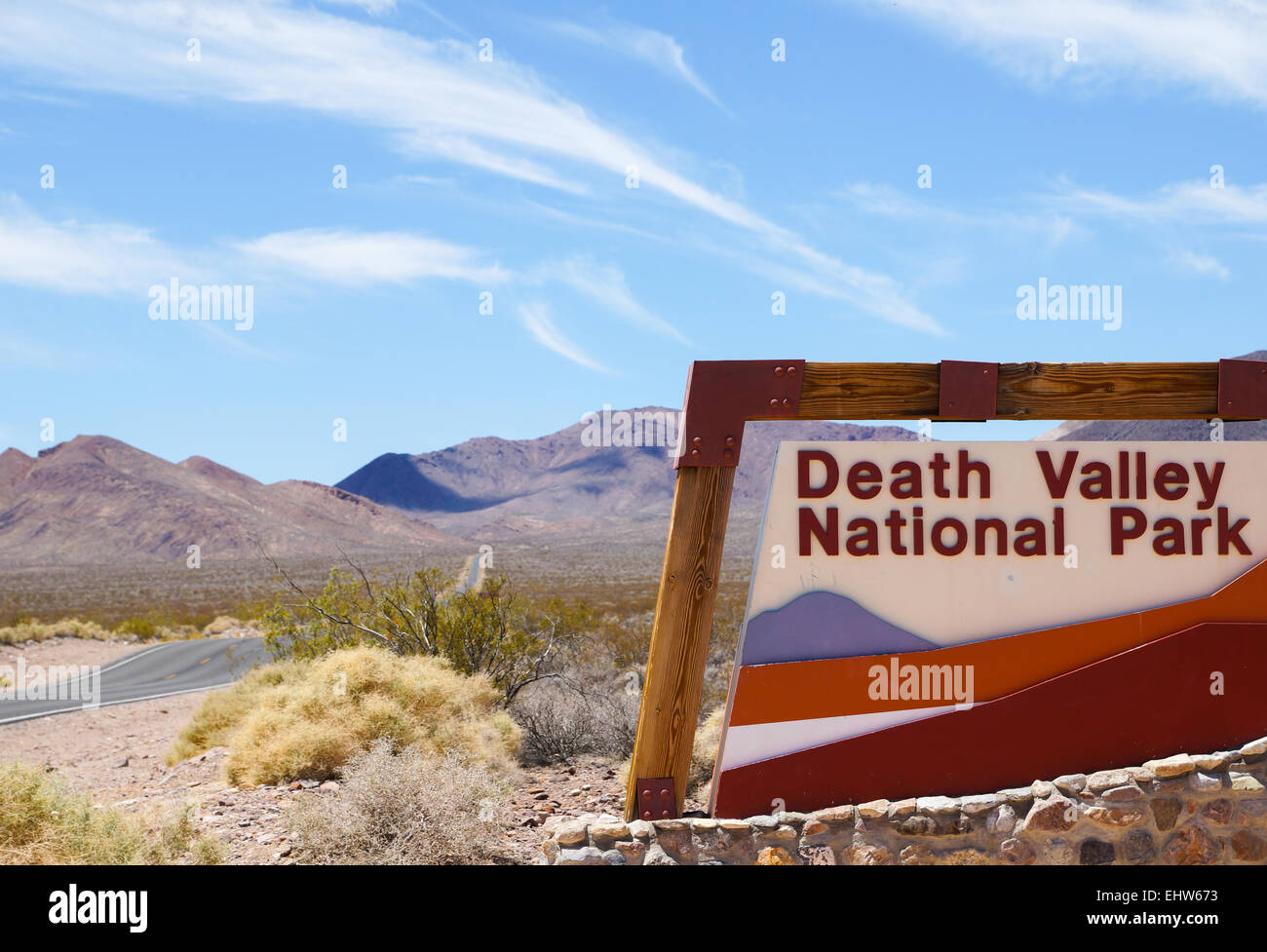 Death Valley - Entrance Stock Photo