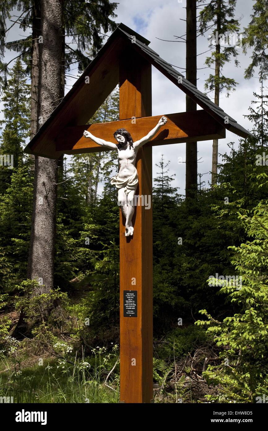 A hallway Cross in Schmallenberg - Stock Image