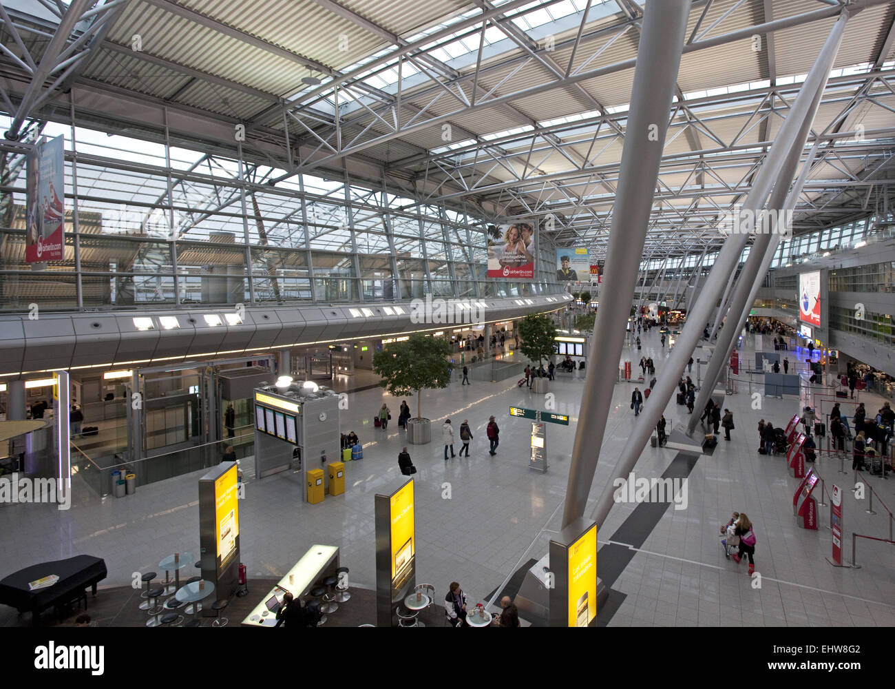 The Dusseldorf International Airport. - Stock Image
