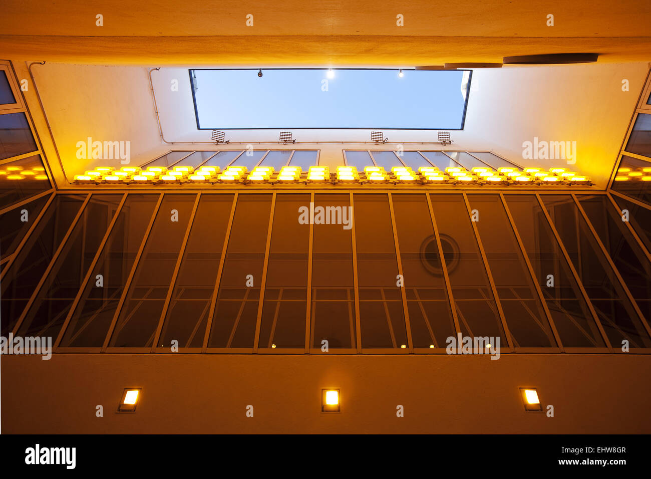 Atrium in the K 20 in Duesseldorf. - Stock Image