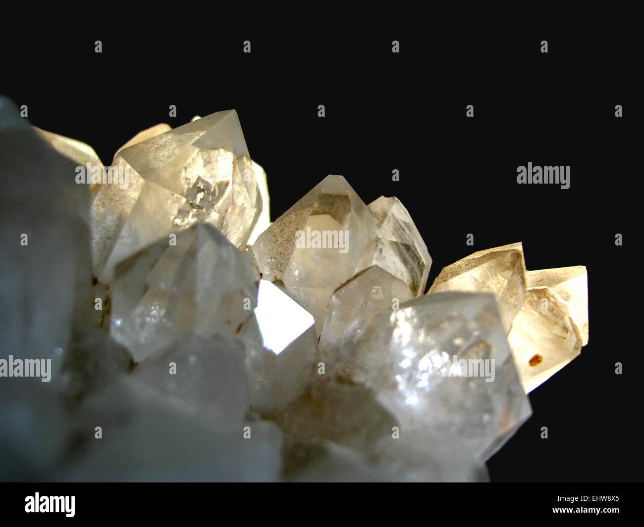 Quartz crystal - Stock Image