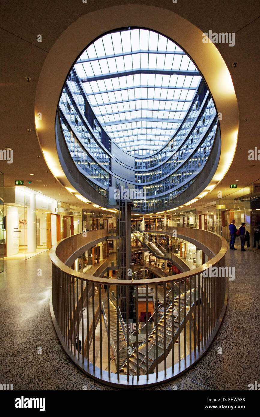 The mall style factory in Duesseldorf. - Stock Image