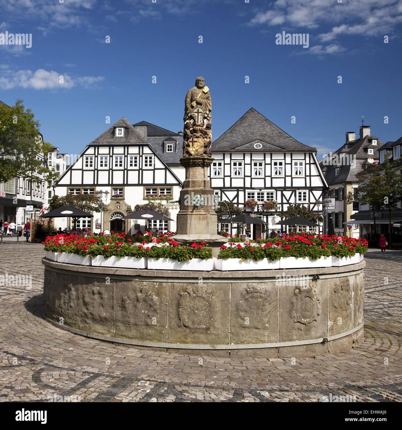 Cityscape of Brilon in the Sauerland region. - Stock Image