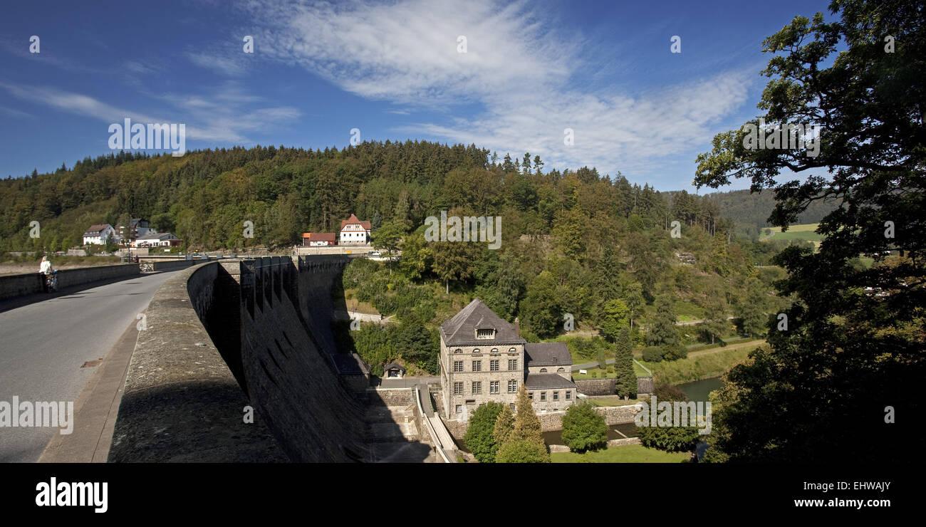The dam of Diemelsee in Marsberg. - Stock Image