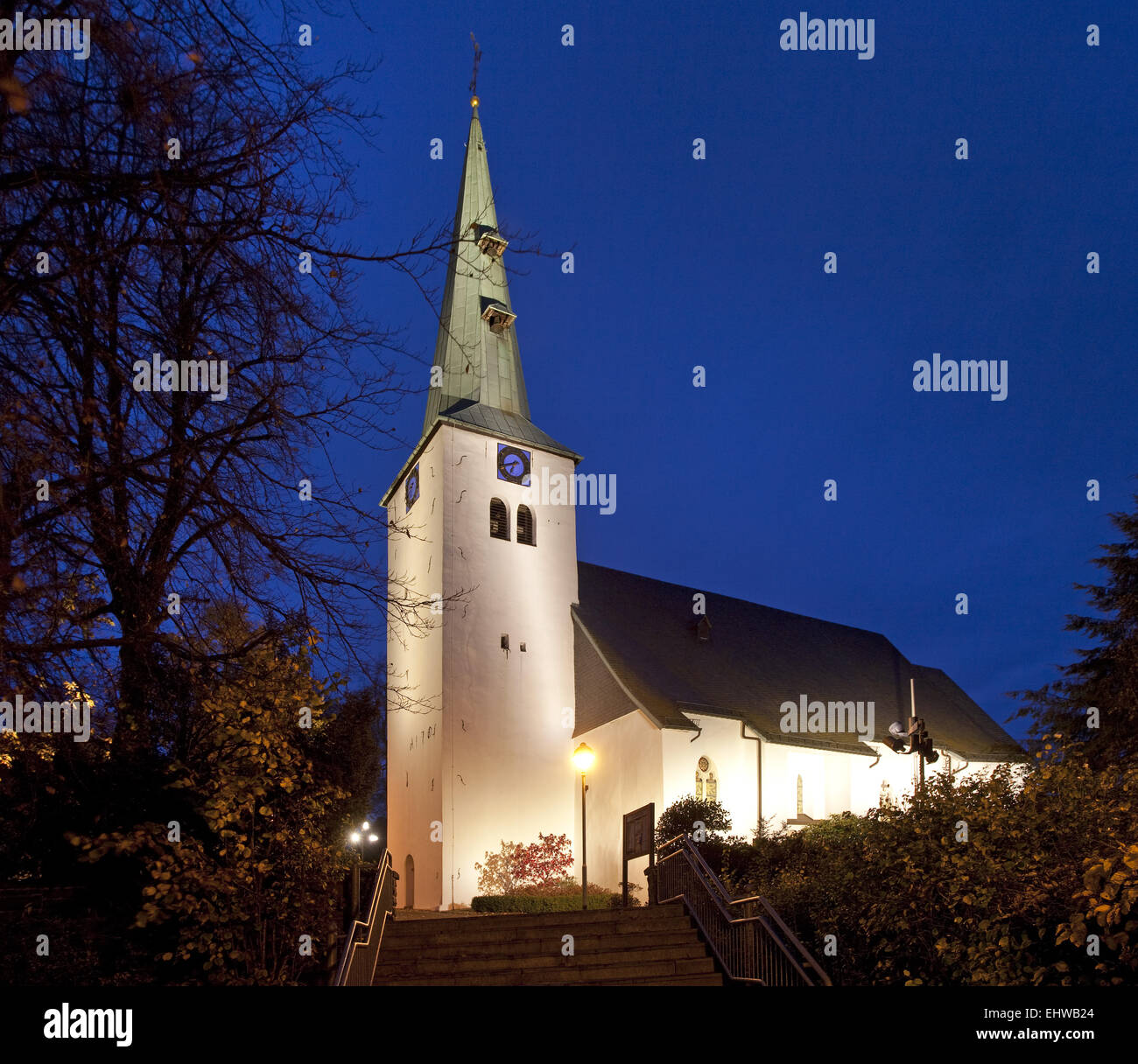 The Apostles Church in Herscheid, Germany. - Stock Image
