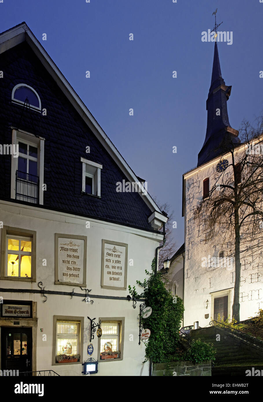 In the old town of Lüdenscheid in Germany. - Stock Image