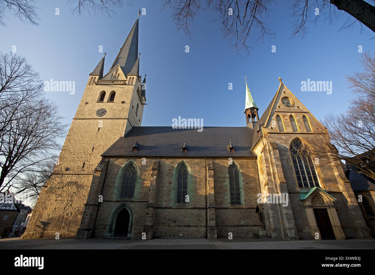 The Saint Vincent Church in Menden, Germany. - Stock Image