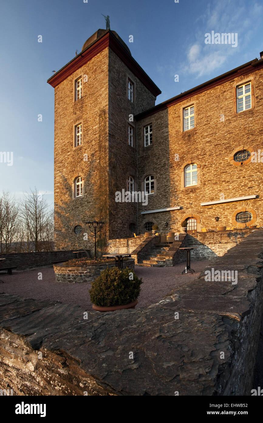 The Schnellenberg castle in Attendorn. Stock Photo
