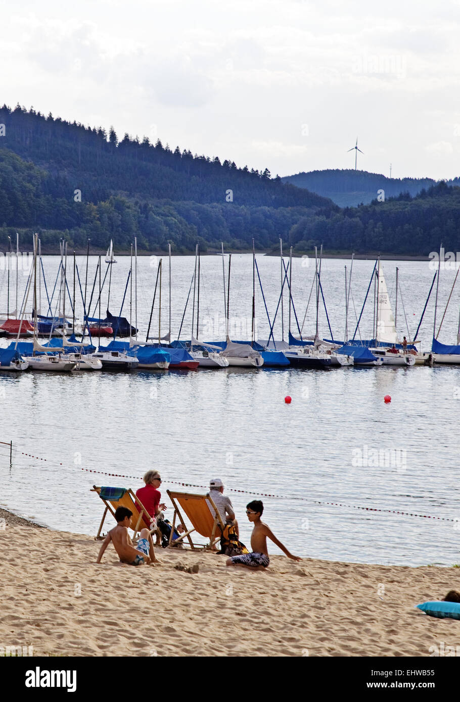 The Waldburger bay at Bigge in Attendorn. - Stock Image
