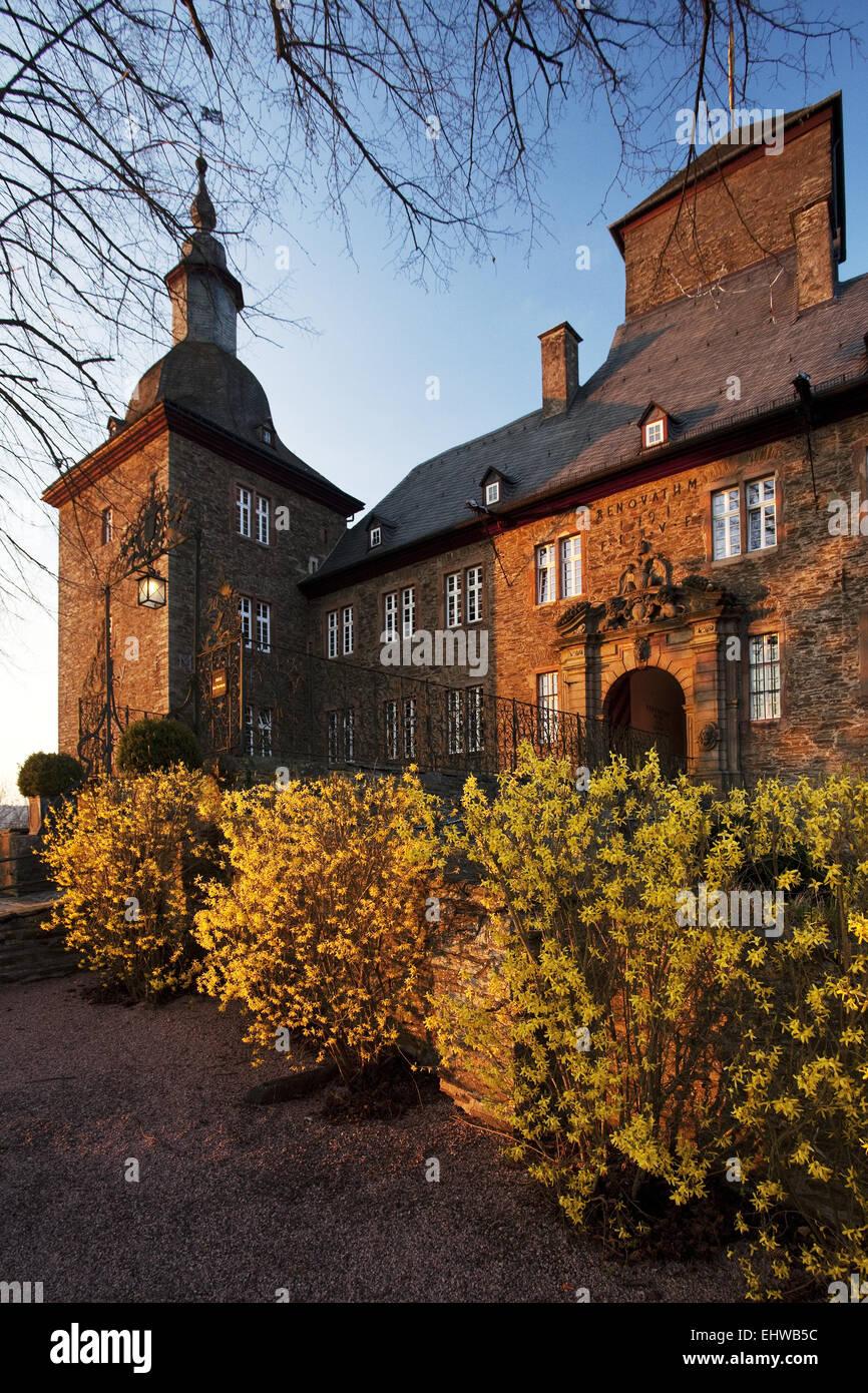 The Schnellenberg castle in Attendorn. - Stock Image