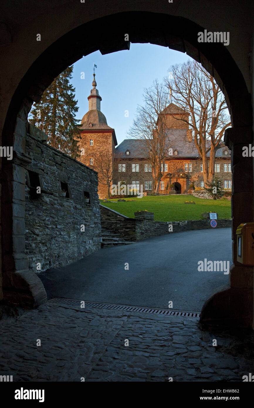 The Schnellenberg castle in Attendorn. Stock Photo