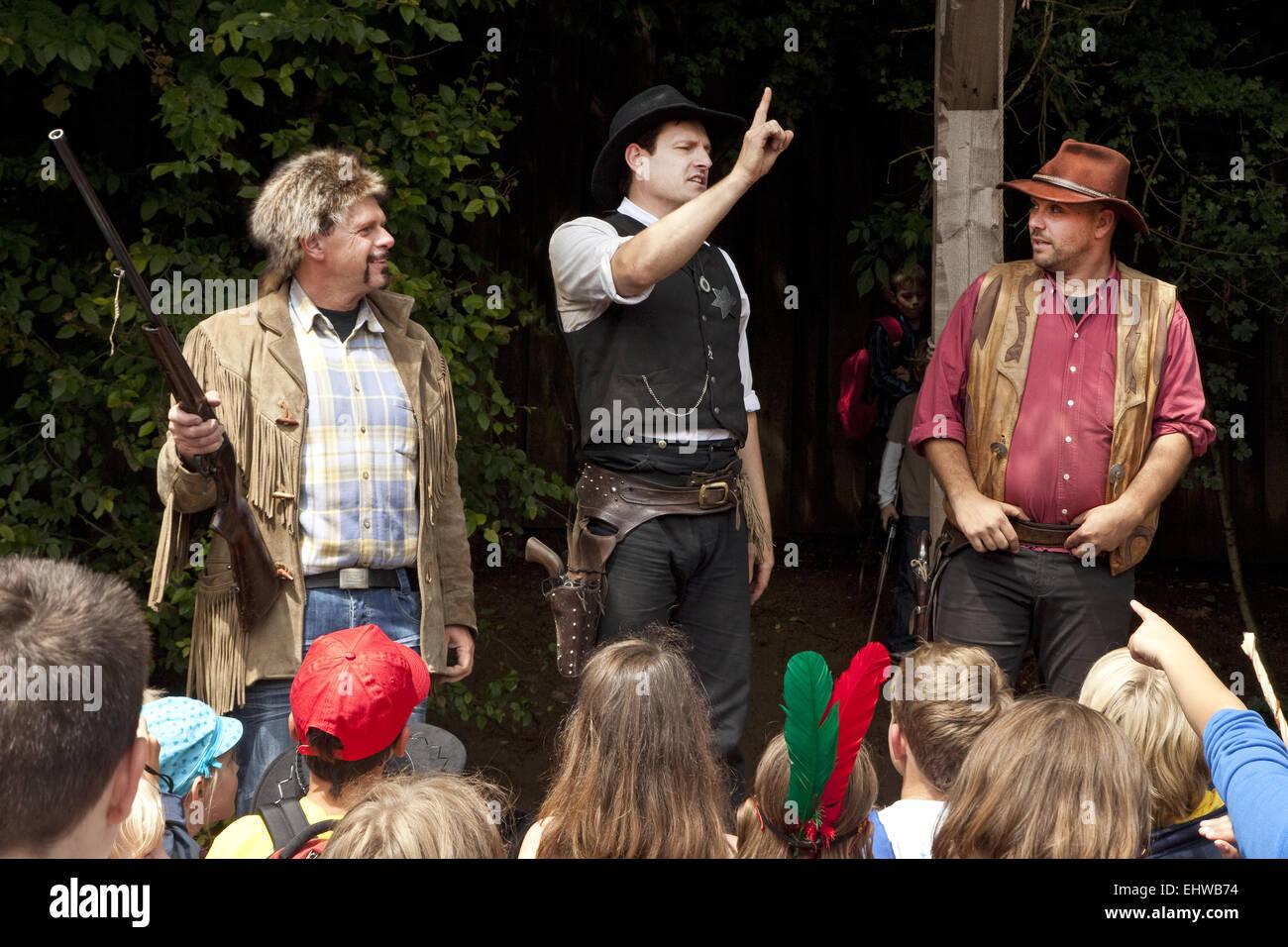 Karl May Games at Elspe Festival. Stock Photo