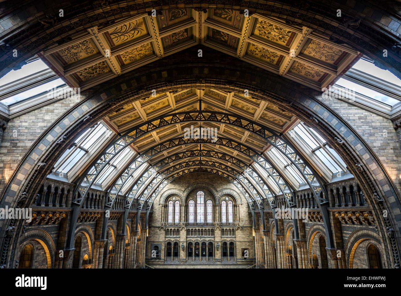 Detail of the roof of the Natural History Museum, London - Stock Image