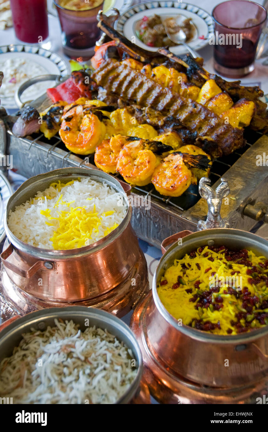 Traditional Regional Cuisine Sharq Village Hotel Qatar Doha Stock