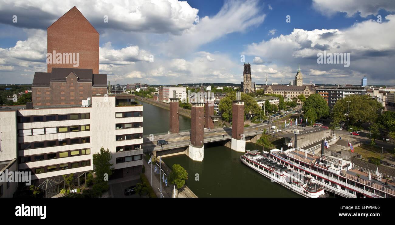 NRW Archives, Schwanentor, downtown, Duisburg. - Stock Image