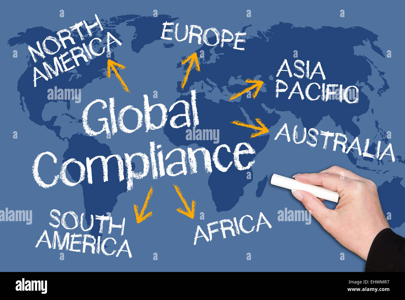 Global Compliance - Stock Image