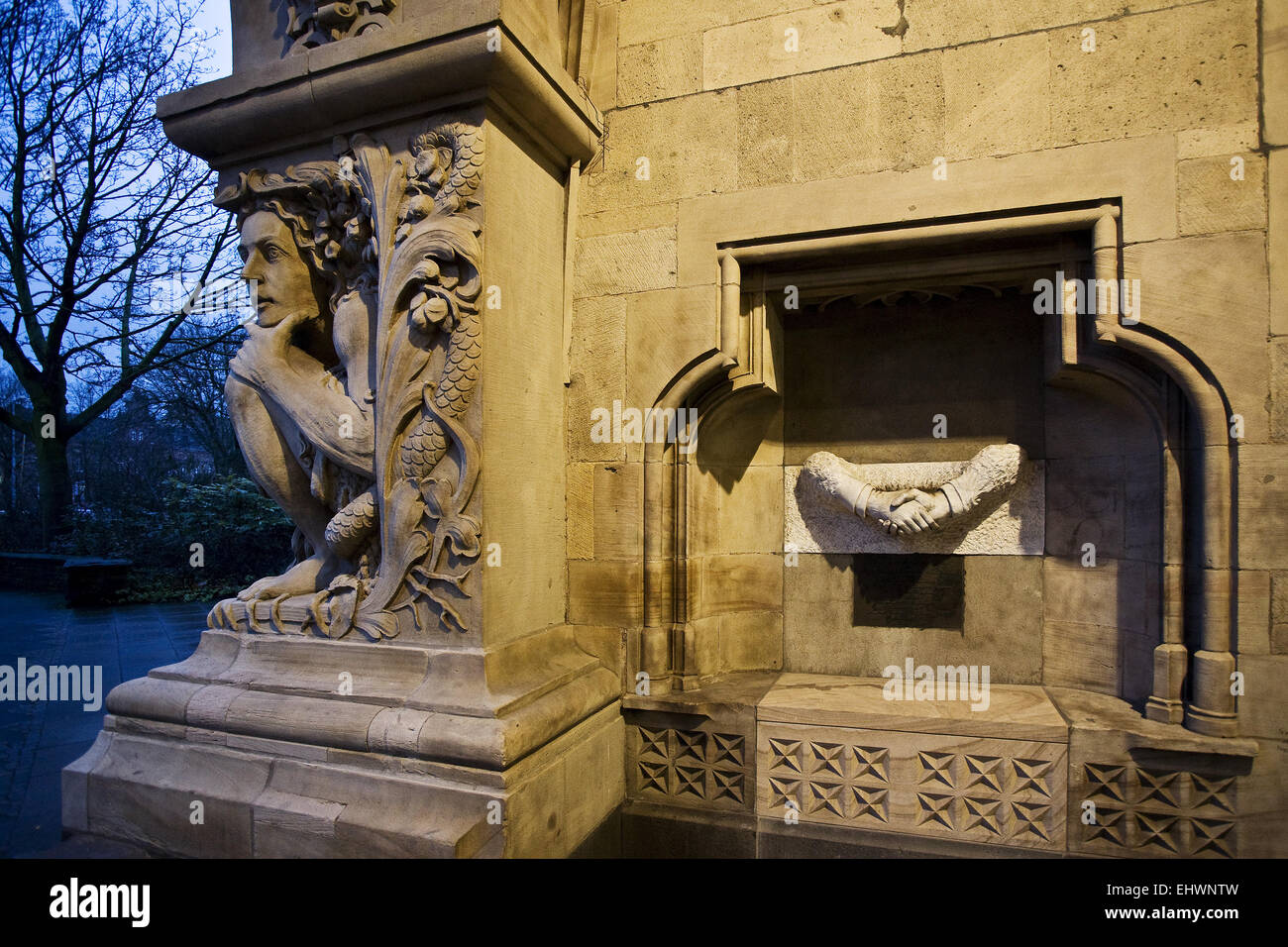 Detail City Hall, Duisburg, Germany. - Stock Image