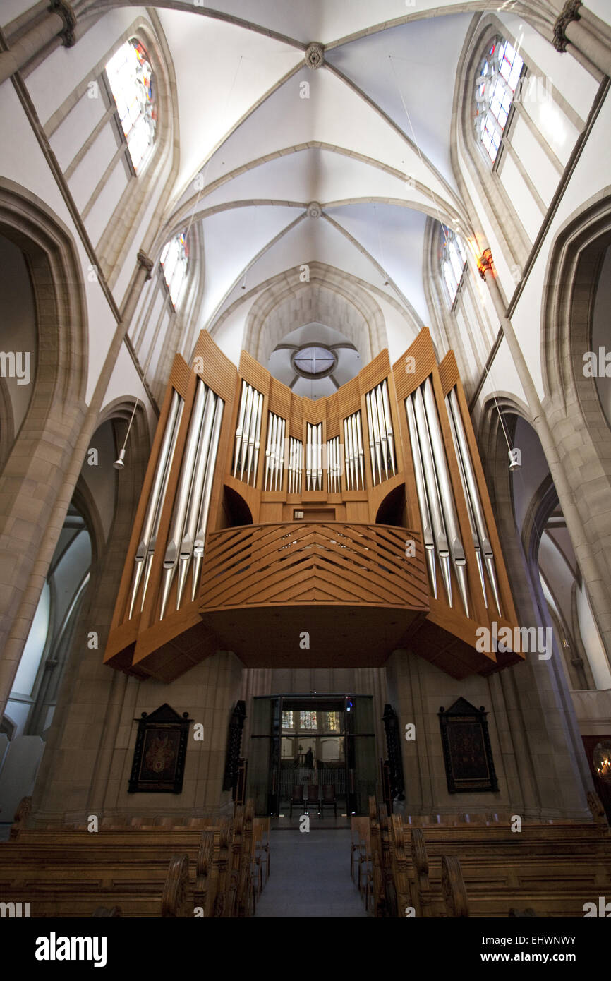 Organ, Salvator Church in Duisburg, Germany. - Stock Image
