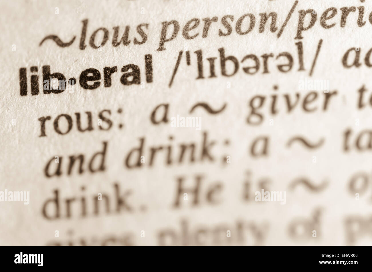 definition of word liberal in dictionary stock photo: 79857456 - alamy