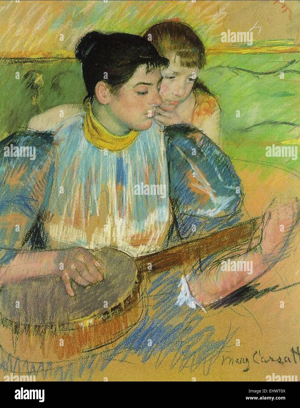 Mary Cassatt  The Banjo Lesson - Stock Image