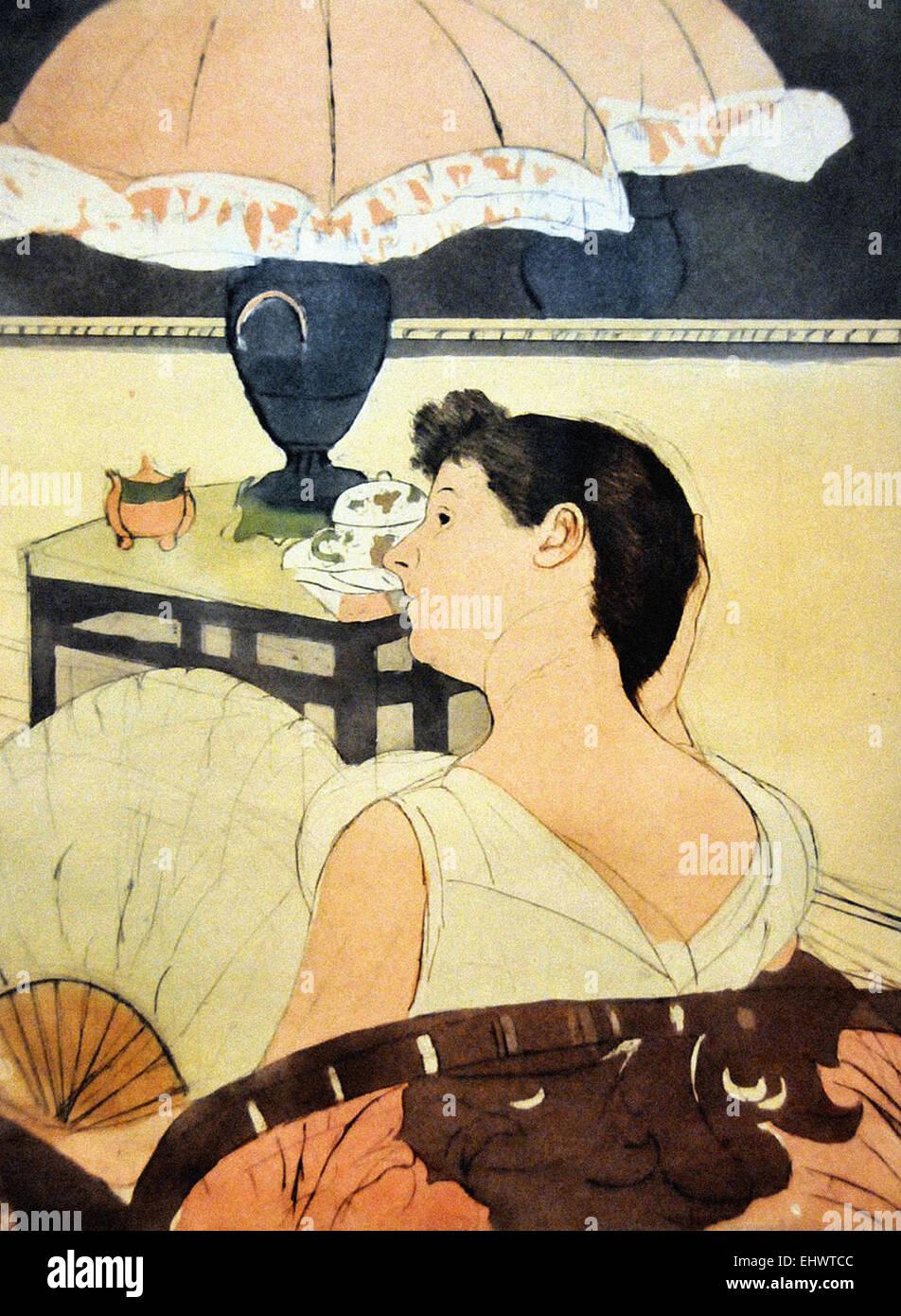 Mary Cassatt  The Lamp - Stock Image