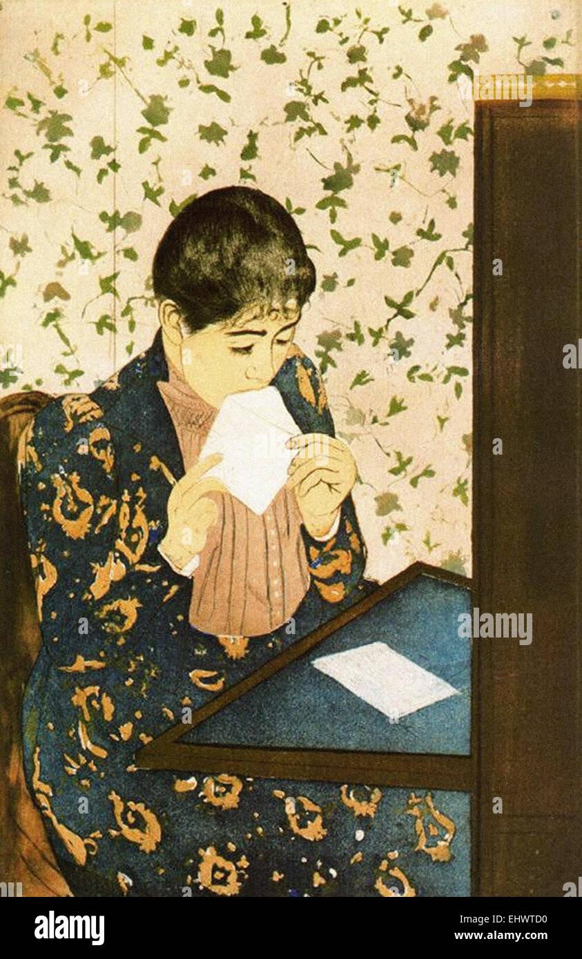 Mary Cassatt  The Letter - Stock Image