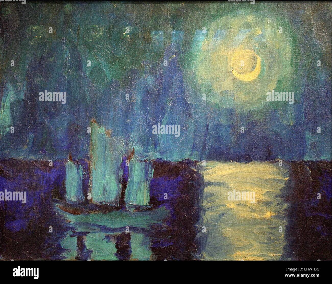 Emil Nolde  Moonlit Night - Stock Image