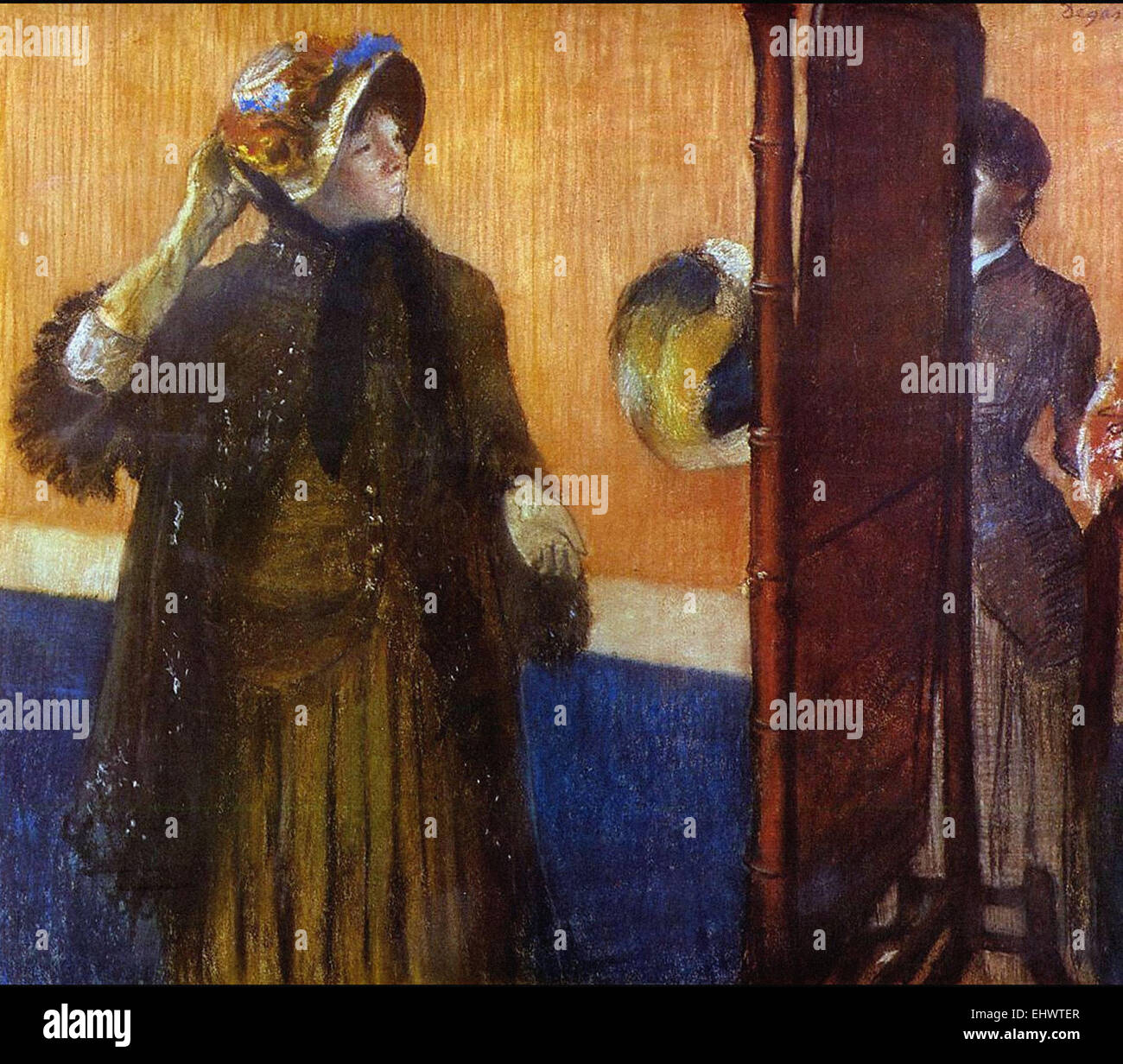 Edgar Degas  At the Milliner's - Stock Image