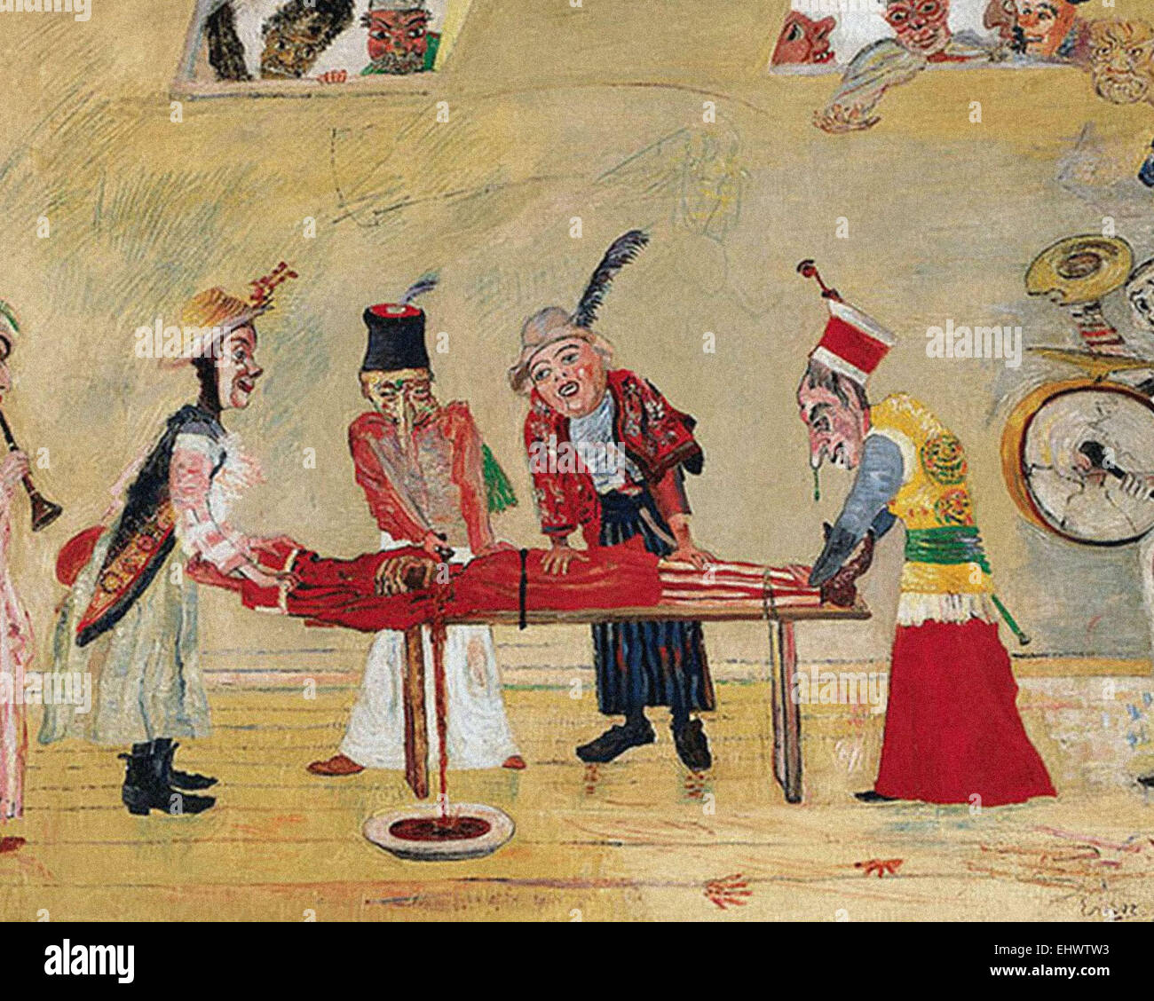 James Ensor  The Assassination - Stock Image