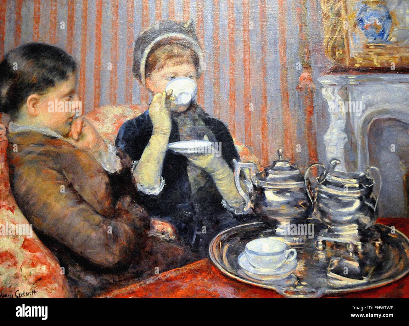 Mary Cassatt  The Tea - Stock Image