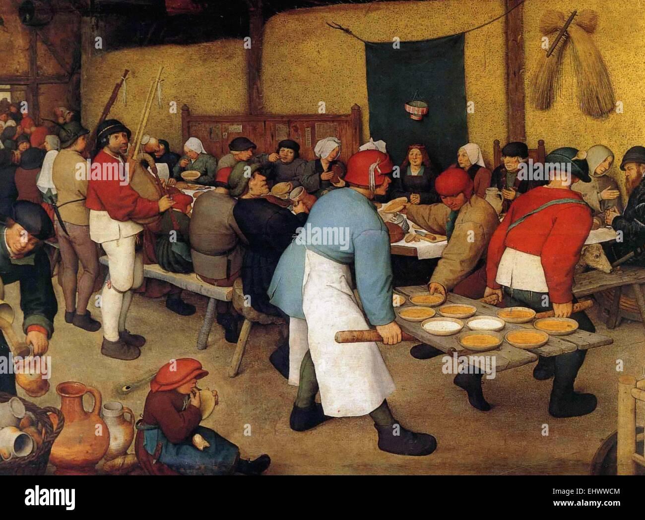 Pieter Bruegel the Elder  The Peasant Wedding - Stock Image