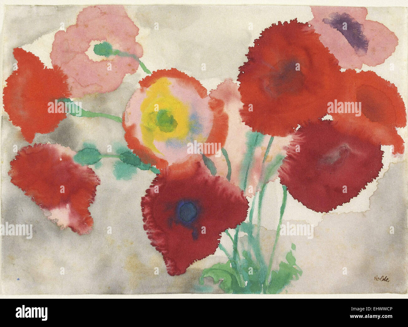 Emil Nolde  Red Poppies - Stock Image