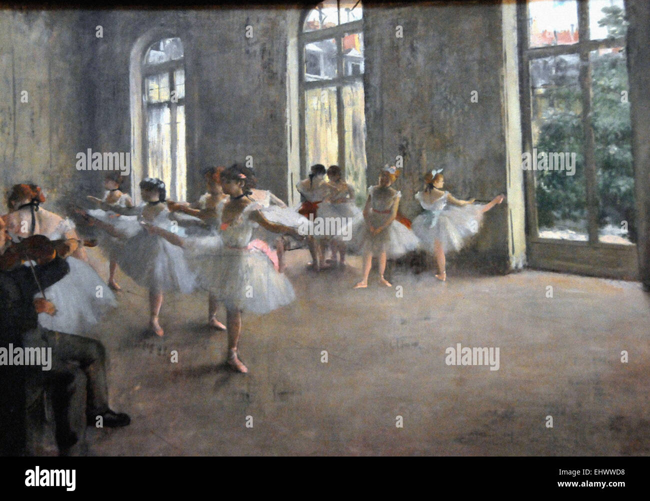 Edgar Degas  The Rehearsal - Stock Image