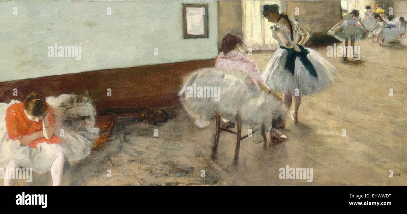 Edgar Degas  The Dance Lesson - Stock Image